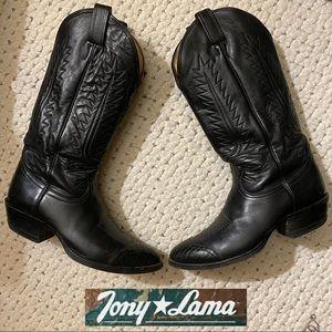 TONY LAMA Mens Handmade USA Made Cowboy Boots9.5in